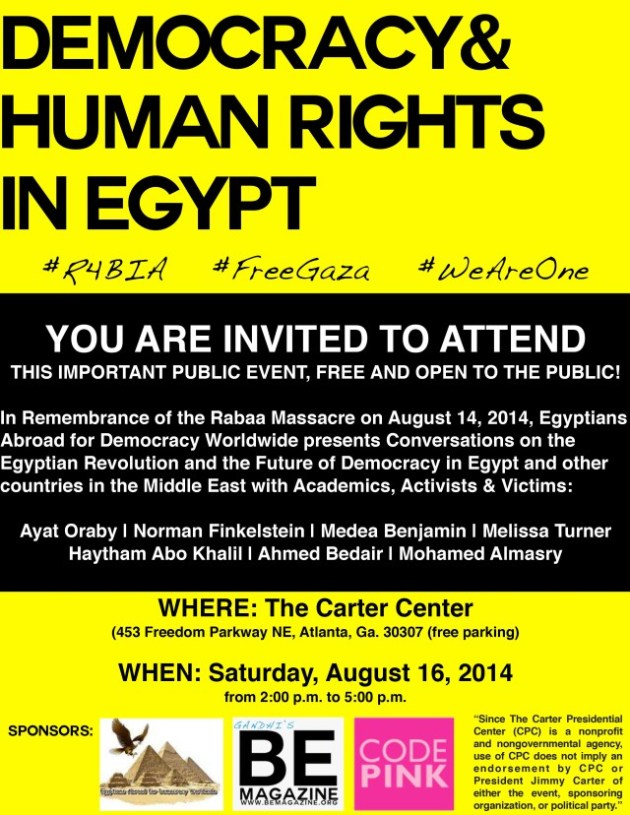 Democracy & Human Rights in Egypt flyer