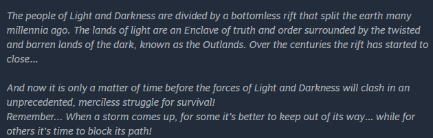 Enclave the Game Backstory